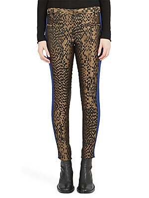 Fitted Allover Printed Pants