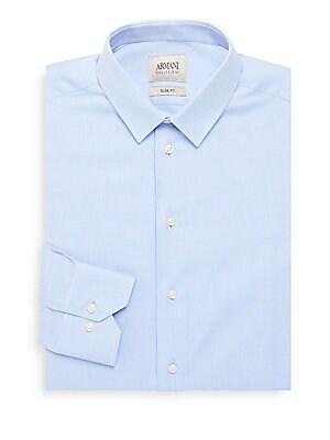 Slim-Fit Cotton Dress Shirt