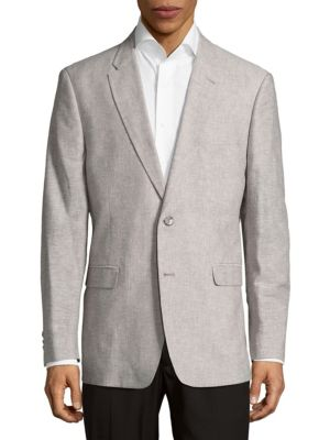 Tommy Hilfiger Cottons Textured Button-Front Jacket