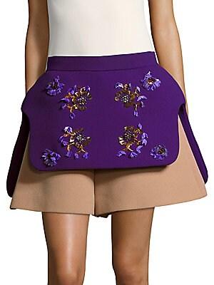 Embellished Wool Shorts