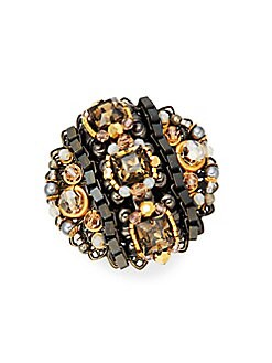 Miriam Haskell - Antiqued Cocktail Ring