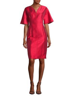 Carolina Herrera Silks Solid Drape Dress