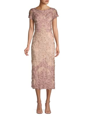 Js Collections  Boatneck Embroidered Dress