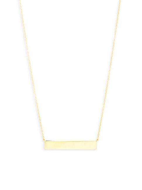 Saks Fifth Avenue Necklaces 14K GOLD BAR PENDANT NECKLACE