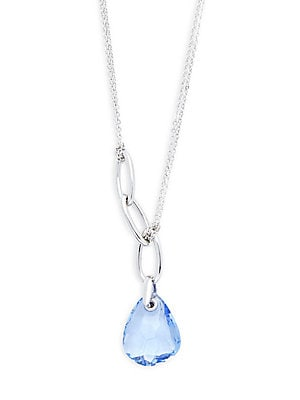 Blue Crystal Pendant Necklace