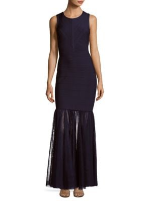 Js Collections  Solid Cutout Mermaid Gown