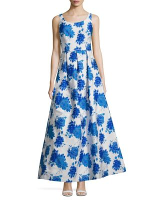 Js Collections  Floral A-Line Gown