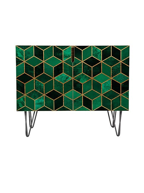 Elisabeth Fredriksson Emerald Cubes Credenza with Wood Tapered Legs