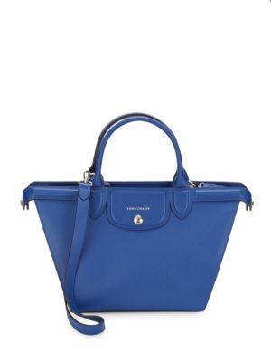 Longchamp Leathers ZIPPERED LEATHER SHOULDER BAG