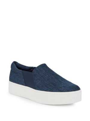 Warren Platform Skate Sneakers in Navy
