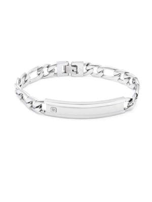 Saks Fifth Avenue  STEEL LINK CHAIN BRACELET