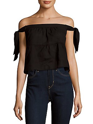 Woven Off Shoulder Top