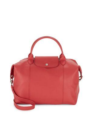 Longchamp Leathers Le Pliage Leather Medium Top Handle Bag