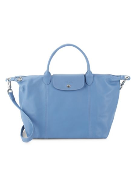 Le Pliage Leather Medium Top Handle Bag by Longchamp