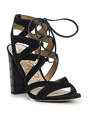 Yardley Suede Lace-Up Sandals