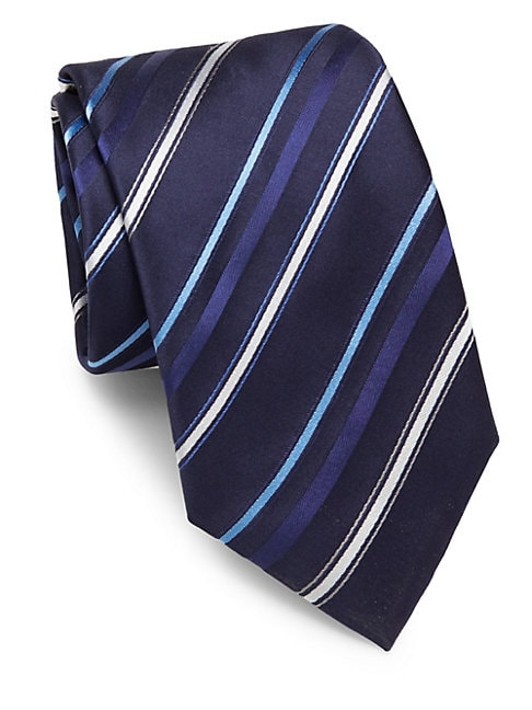 Multi-Striped Silk Tie