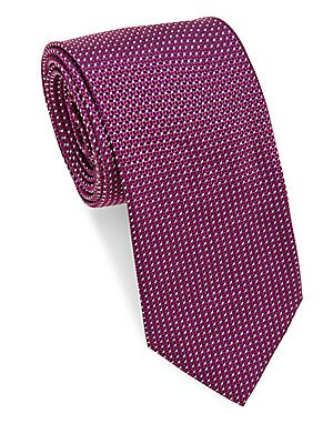 Geometric Tight Repeating Silk Tie