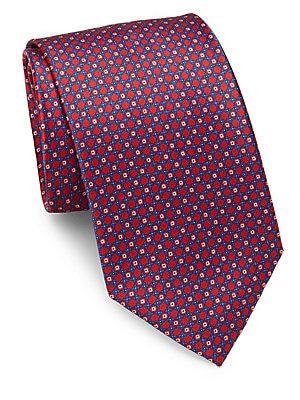 Mini Diamond Silk Tie