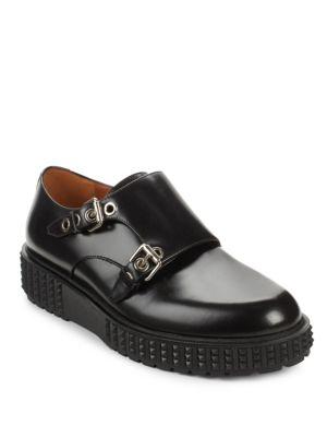 Valentino Leathers Monk Strap Platform Oxfords