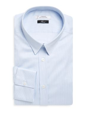 Sergio Rossi Cottons Striped Dress Shirt