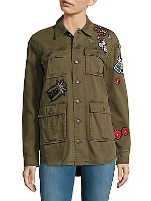 Long-Sleeve Patch Jacket