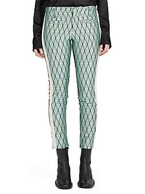 Printed Silk Blend Pants