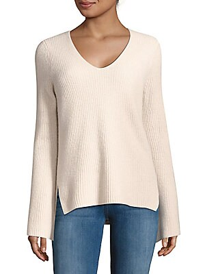 Flare-Sleeve Cashmere Sweater