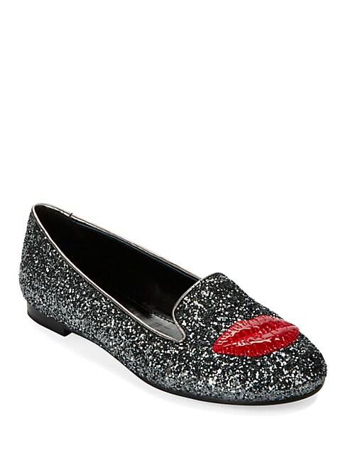 CHIARA FERRAGNI | Lipstick Glitter Loafers | Goxip