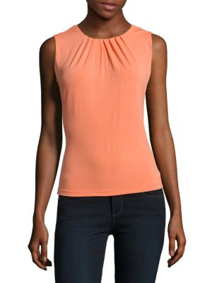 Calvin Klein Tops Solid Sleeveless Top