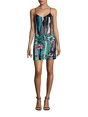 Embellished Silk Slip Dress