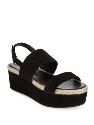 Alice And Olivia  Anastasia Leather Platform Sandals
