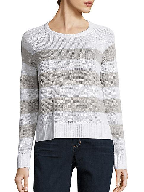 Organic Linen & Organic Cotton Striped Sweater