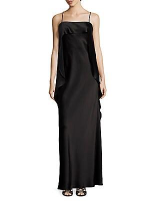 abs by allen schwartz female draped satin gown
