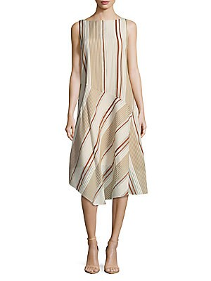 Printed Striped Dress