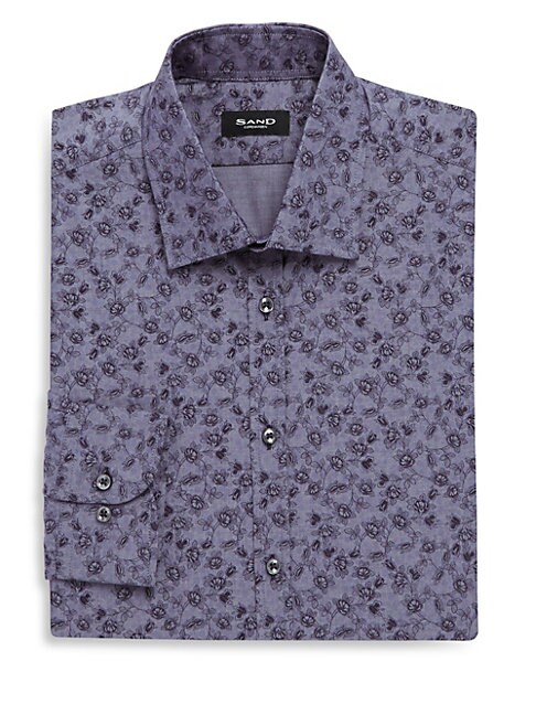 Cotton Printed Dress Shirt