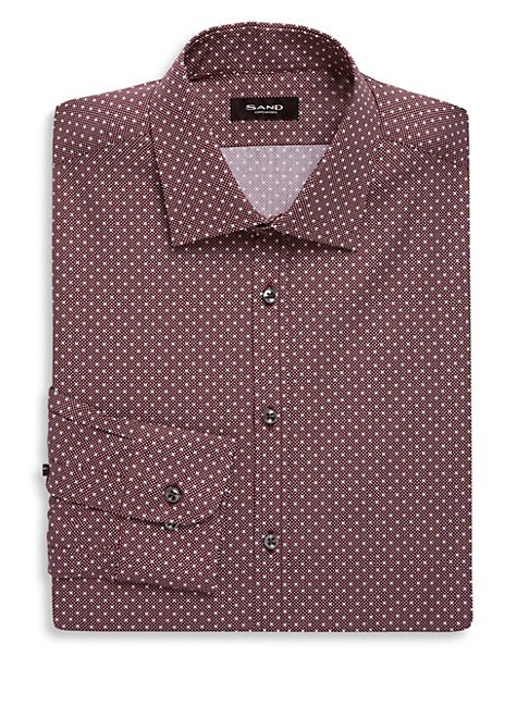 Cotton Printed Dress Shirt