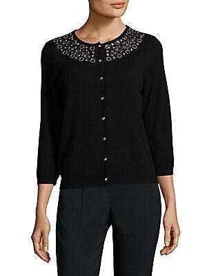 Embellished Wool-Cashmere Cardigan