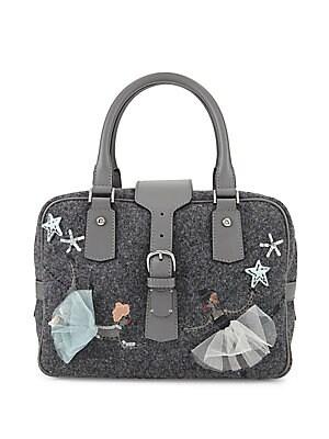 Wool Top-Handle Handbag