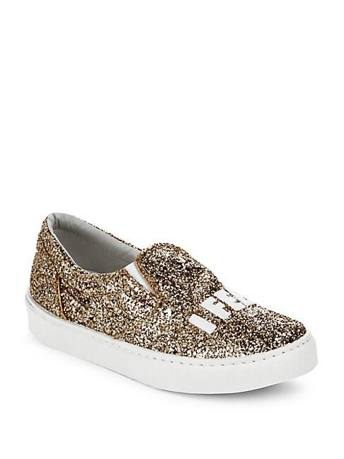 CHIARA FERRAGNI | Glittery Round-Toe Sneakers | Goxip