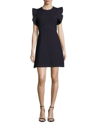 Opening Ceremony Cottons William Ruffle Sleeve Dress