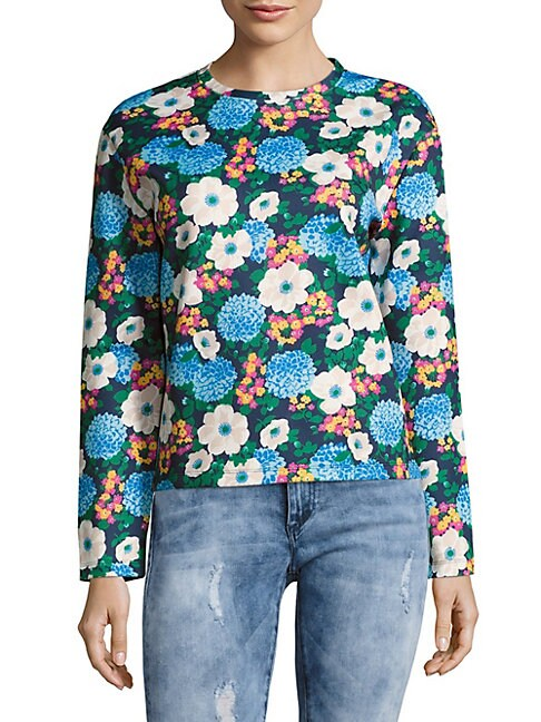 Floral-Print Long-Sleeve Sweatshirt