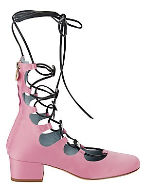 Eye Lace-Up Sandals