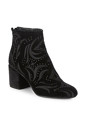 Ibis Embroidered Velvet Boots