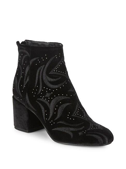 Ibis Embroidered Velvet Boots