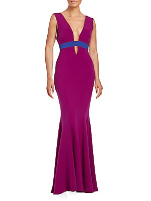 Contrast Mermaid Gown