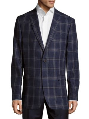 Tommy Hilfiger Linens Plaid Linen Jacket