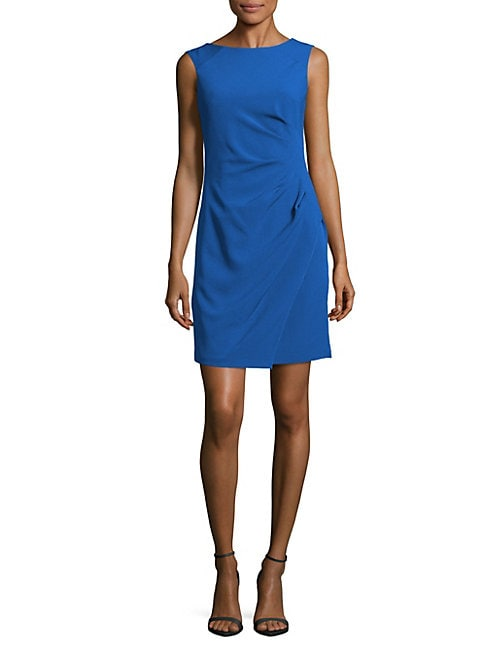 Solid Ruched Sheath Dress