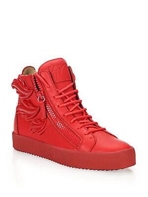 Triple Wing High-Top Sneakers