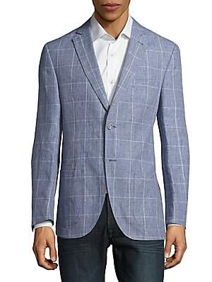 Windowpane Linen Jacket