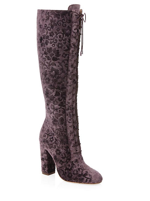 Vesey Embossed Velvet Boots